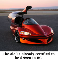 FuelVapor ale' certified to be driven in B.C.